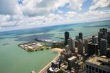lake michigan panorama from chicago tower poster