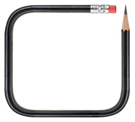 Frame with black pencil