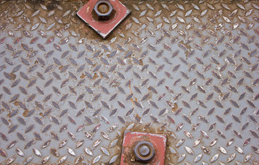 Background of old metal diamond plate