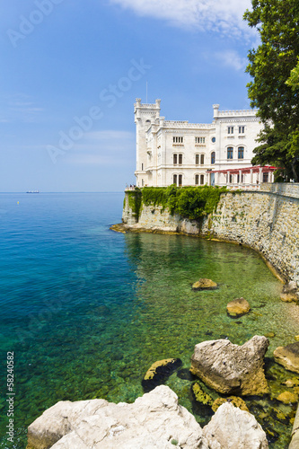 Miramare castle with beautiful view