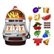 A slot fruit machine