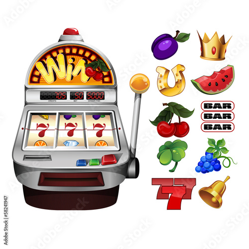 A slot fruit machine