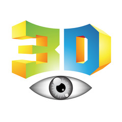 3d Display Technology Symbol