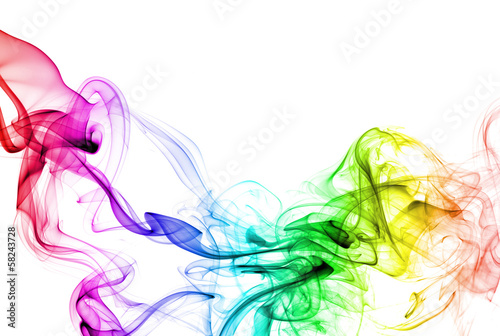 Foto op Canvas Rook colored smoke