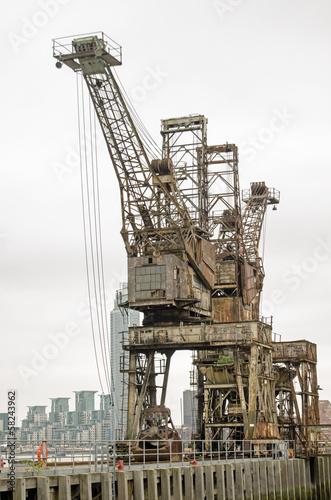Disused Cranes, Battersea Power Station
