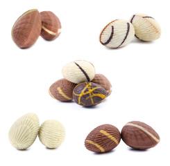 Colorful chocolate seashell.