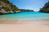 Fototapety Cala Macarelleta in Menorca at Balearic Islands