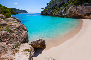 Cala Macarelleta in Menorca at Balearic Islands