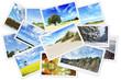 Leinwanddruck Bild - Pile of nature photos