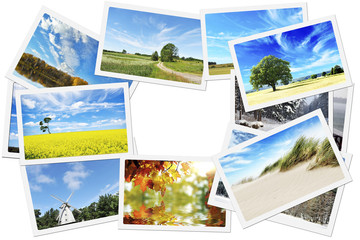 Pile of nature photos