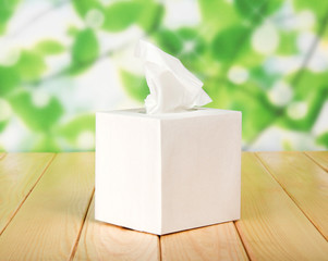 White box with napkins