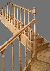 Turn in the wooden stairs, across the landing
