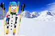 Ski, snowman and winter fun