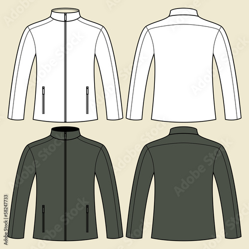 Jacket template - front and back - 58247733