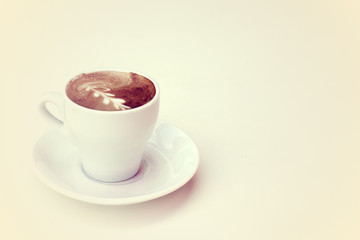 cup of coffee on pastel colors