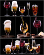 different images of alcohol