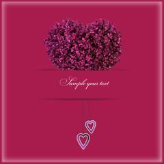 Hochzeitskarte mit dem Herz