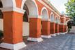 archs and columns in Santa Catalina monastery Arequipa Peru