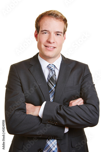 Business manager with arms crossed