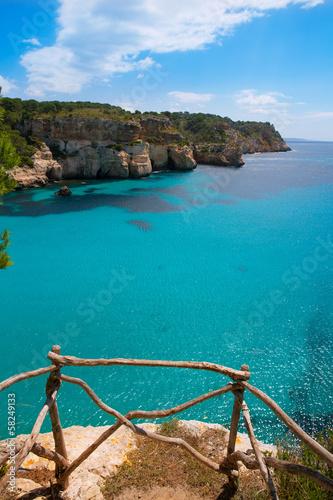 Obraz na płótnie Cala Macarella Menorca turkus Baleary Śródziemnomorska
