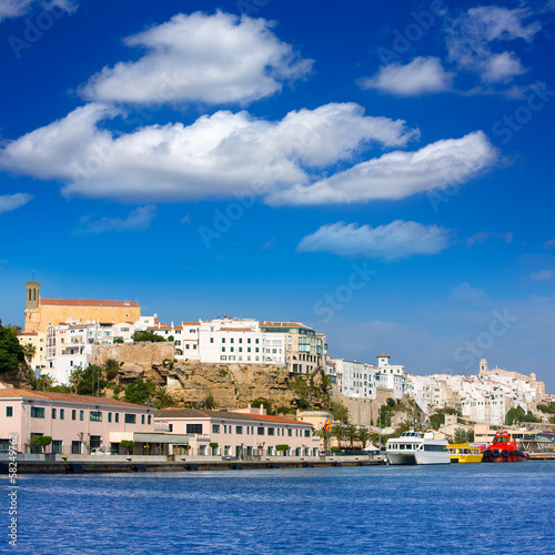 Mao Port of Mahon in Menorca at Balearic islands