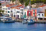 Fototapety Mao Port of Mahon in Menorca at Balearic islands