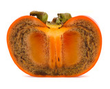 Section of seedless persimmon Kinokawa (Diospyros kaki)