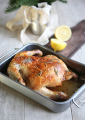 chicken from the oven
