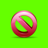 3d cancel icon