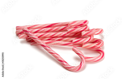 Striped Christmas candies