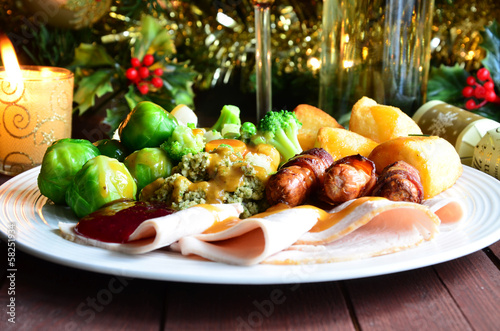 canvas print picture Christmas Dinner