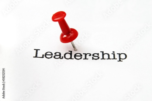 Push pin on leadership text