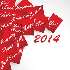 Happy New Year  Red Wishes 2014