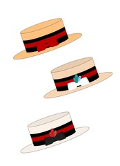 strawboater hats in variations and styles
