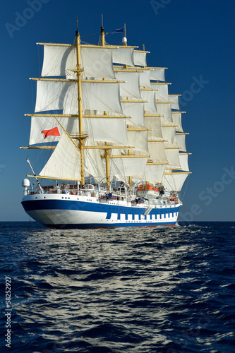 Fototapeta Sailing ship. Series sailboats world