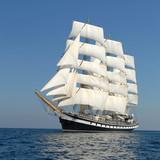 Sailing ship.  series of ships and yachts