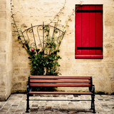 bench and window