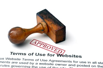 Terms of use for websites