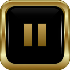 Black gold pause button.