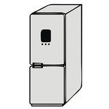 vector drawing of a refrigerator