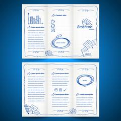 brochure folder sketch design vector