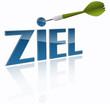 Ziel Dartpfeil Erfolg Konzept  - Vektor