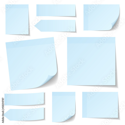 Collection Blue Stick Notes