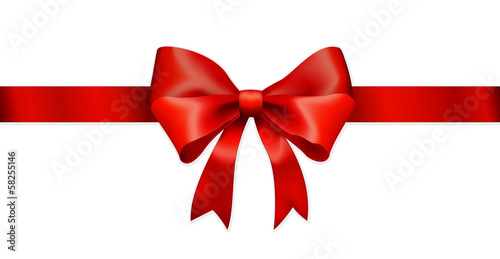 Huge red ribbon bow