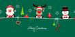 Santa, Rudolph & Snowman Symbols Green