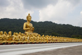 Big Buddha statue with 1,250 statues of saint and monk