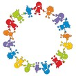 Children in Aktion ~ Kinder ~ Kids - Ring/Kreis V2