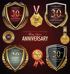 30 years anniversary labels