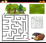 Fototapety cartoon maze or labyrinth game