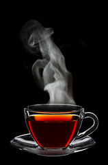 Cup of black tea © George Dolgikh